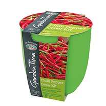 Garden Time Range - Red (De Cayenne) Chilli Grow Kit