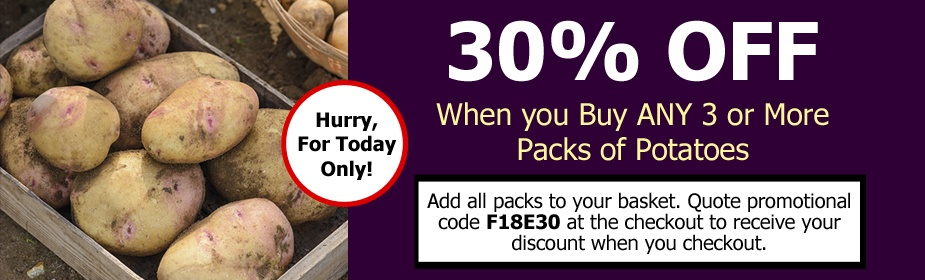 Black Friday Event Offer - 30% Off ANY 3 or More Packs of Potatoes