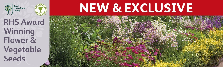 New & Exclusive RHS Flower & Vegetable Seed Collections