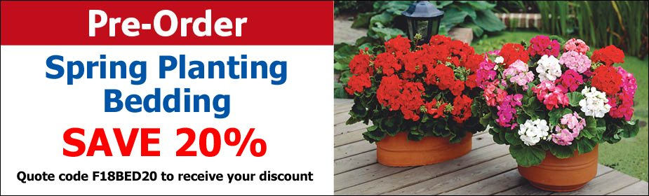 20% OFF Spring Planting Bedding