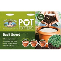 Pot Toppers - Basil Sweet Seeds