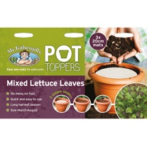 Pot Toppers - Mixed Lettuce Leaves Seed