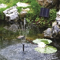 SolarShower 250 Solar Fountain Pond Pump