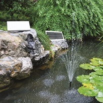 SolarShower 400 Solar Fountain Pond Pump