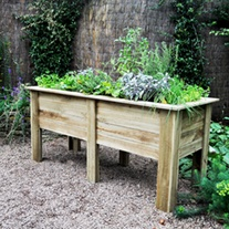 Wooden Garden Deep Root Planter 1.8m