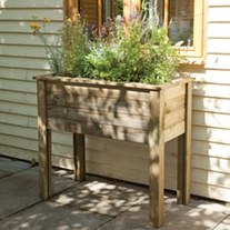 Bamburgh Wooden Planter Table
