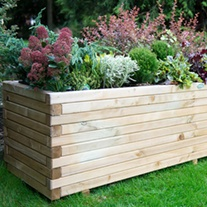 Lomello Wooden Garden Planter