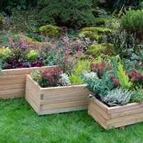 Durham Wooden Rectangular Planter Set of 3