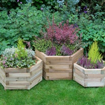 York Hexagonal Garden Planter Set of 3