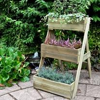 Compact Wooden Garden Cascade Planter