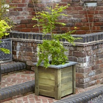 Cambridge Wooden Garden Planter 50 x 50cm