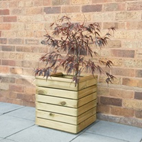 Linear Wooden Garden Planter Square
