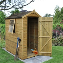 Pressure Treated 6 x 4 Apex Shed