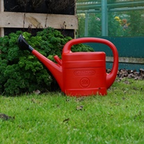 Red Plastic Watering Can 10ltr