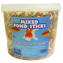 Mixed Pond Sticks Fish Food 5ltr