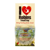 I Love Robins Treat Tray Window Feeder