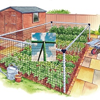 Vegetable Cage - Deluxe 12'x24'