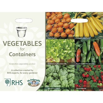 RHS Vegetables for Containers Collection