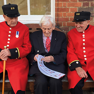 Royal Hospital Chelsea Charity Calendar with Sweet Pea Scarlet Tunic