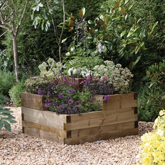 Caledonian Wooden Tiered Raised Bed