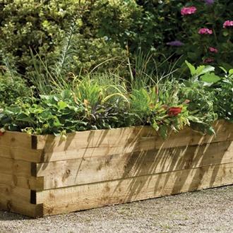 Caledonian Wooden Garden Trough