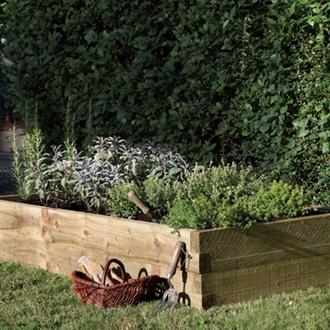 Caledonian Wooden Rectangular Raised Bed