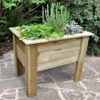 Wooden Garden Deep Root Planter 1m