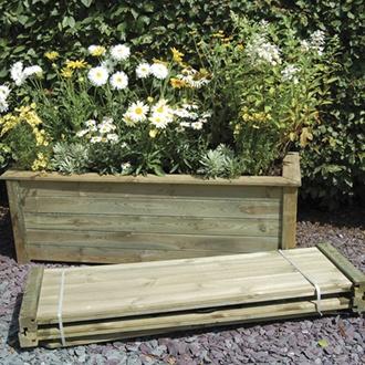 Bamburgh Wooden Garden Planter Kit