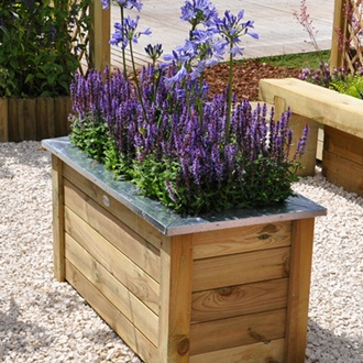 Cambridge Wooden Garden Planter 100 x 50cm