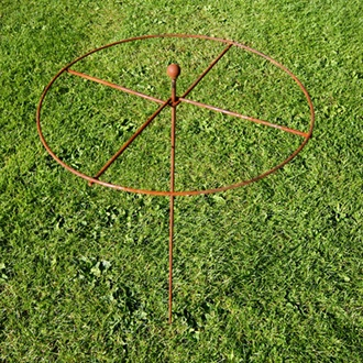 Steel Circle Plant Supports 82 x 40cm - Rust
