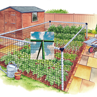 Vegetable Cage - Deluxe 6'x12'