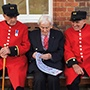 RHC Calendar - Robin Ollington with Chelsea Pensioners