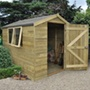 Pressure Treated 8 x 6 Apex Shed