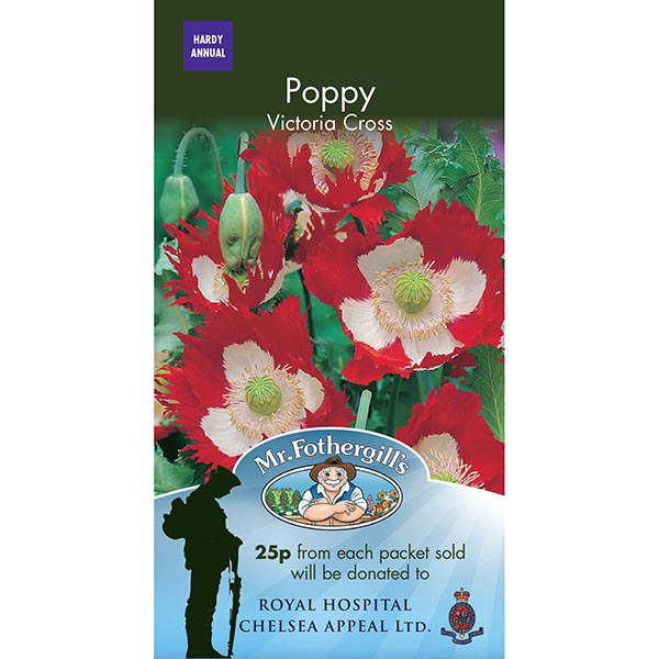 Poppy victoria cross seeds supporting royal hospital chelsea poppy victoria cross charity packet mightylinksfo