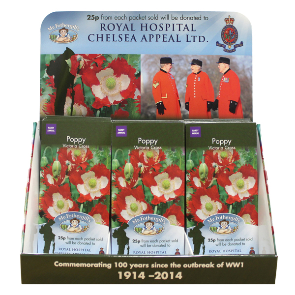 Poppy victoria cross seeds supporting royal hospital chelsea poppy victoria cross counter top stand mightylinksfo