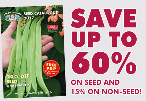 Save up to 60% on seed and 15% on non-seed