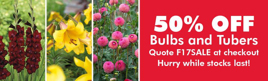 50% Off Bulbs and Tubers