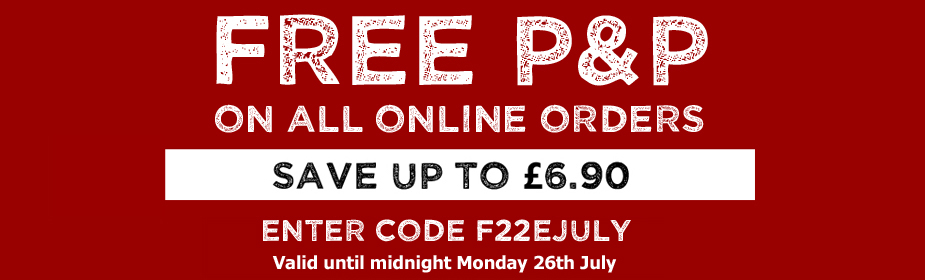 FREE P&P on ALL online orders - Enter code F22EJULY