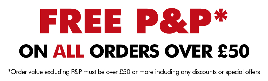 FREE Postage and Packaging on all orders over £50