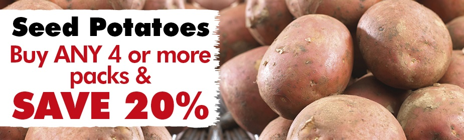 Buy ANY 4 or more Packs of Seed Potatoes & SAVE 20%