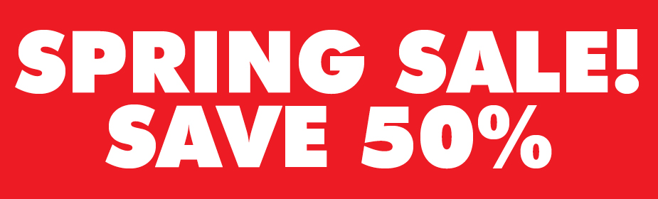 Spring SALE Up to 50% OFF!