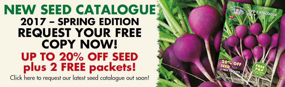 New Seed Catalogue 2017 - Spring Edition - Request your free copy today!