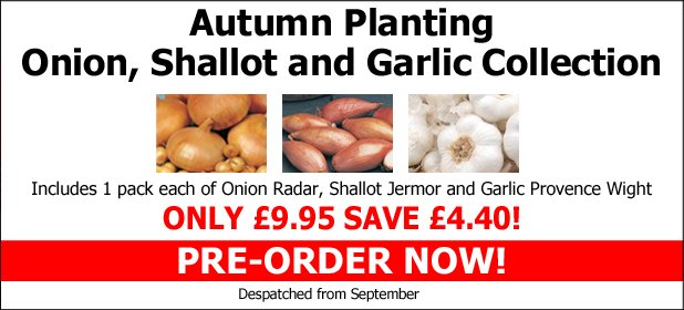 Autumn Planting Onion, Shallot & Garlic Collection
