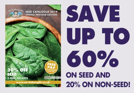 Save up to 60% on seed and 20% on non-seed