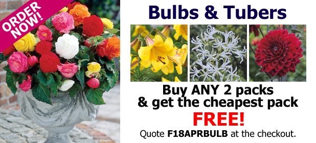 Buy ANY 2 Packs of Bulbs and Tubers and get the Cheapest Pack FREE!